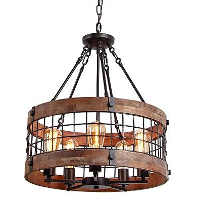 c0019 round wooden chandelier ceiling