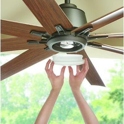 Ceiling Fan 8-Blade 9-Speed Dimmable Lights Brown