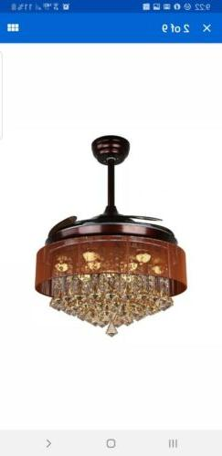 "Parrot Uncle with Lights 42"" Modern Brown Ceiling"