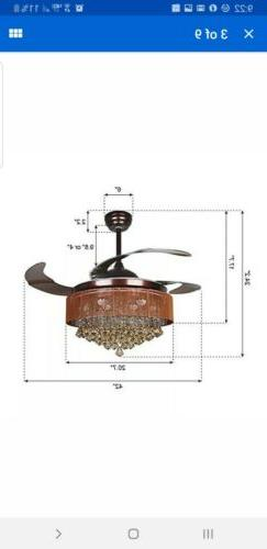 Parrot Ceiling Fans with Lights 42""