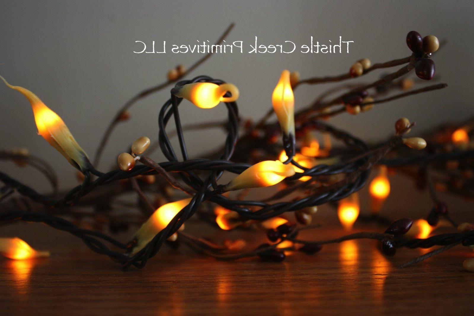 50 Count Country Lights Strand Dipped Silicone - Brown Cord
