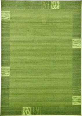 Unique Loom Collection Transitional Green Rug...