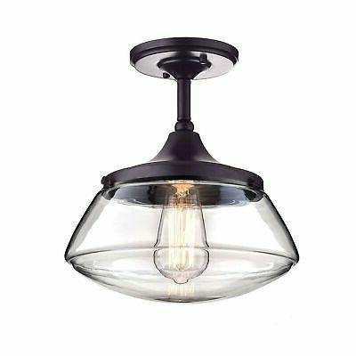 ecopower vintage metal and glass ceiling light