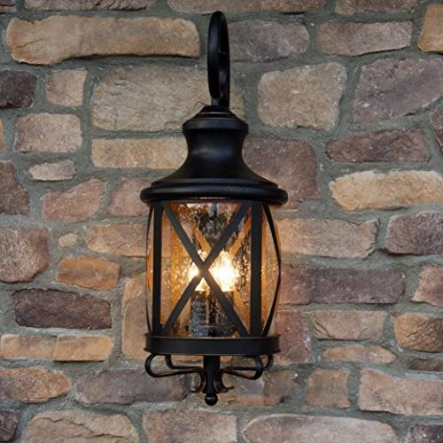Y Transitional, Exterior Fixture Large, Brown
