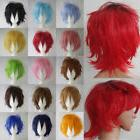 Elegant Halloween Short Straight Full Wig Dip Dyed Cosplay W