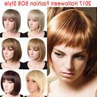 Elegant Natural Bob Cut Pixie Full Wig Synthetic Hair With B