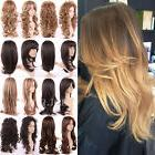 Elegant Synthetic Hair Full Wig Long Curly Wave Layered Heat