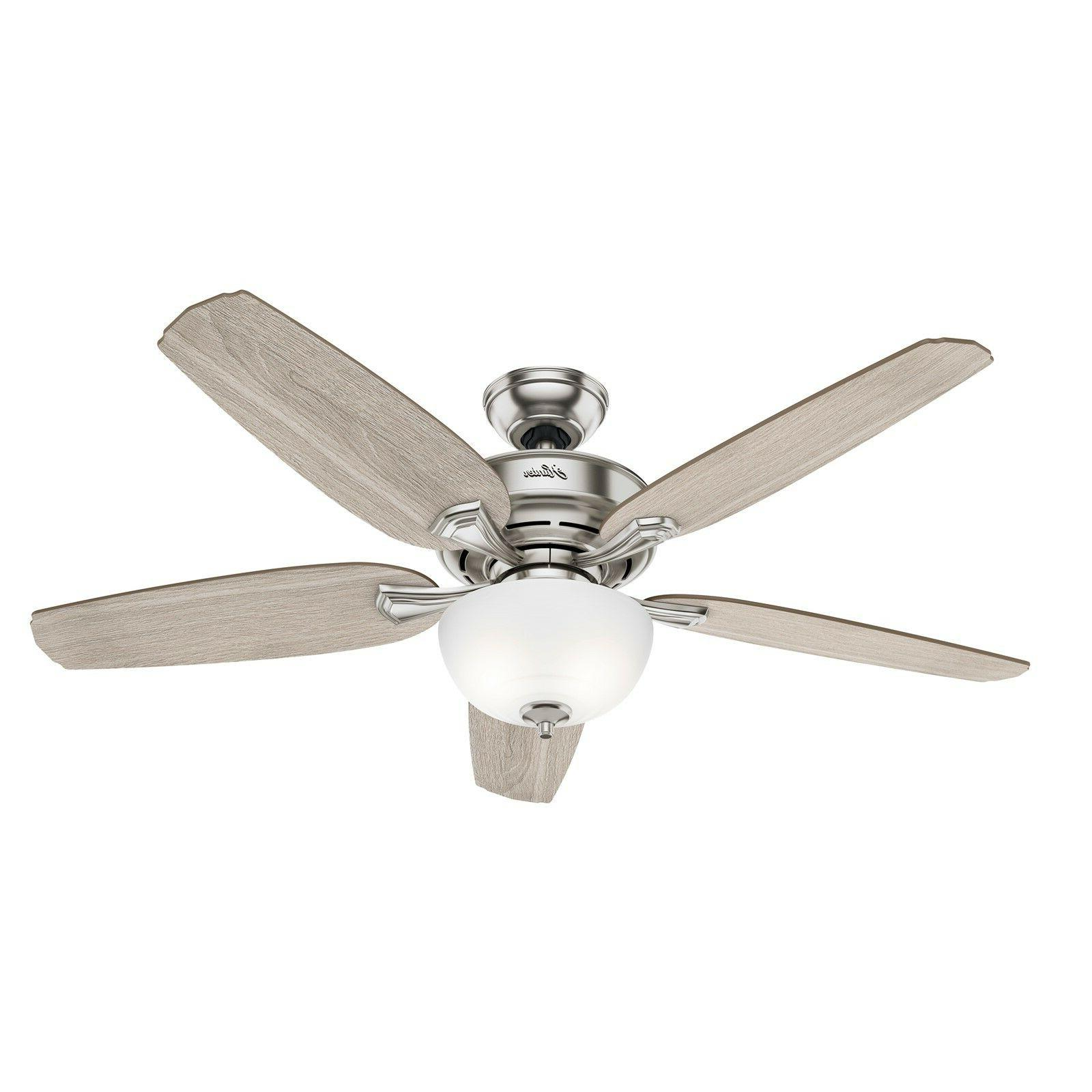 Hunter 54 Casual Brushed Nickel Ceiling Fan Kit & Control