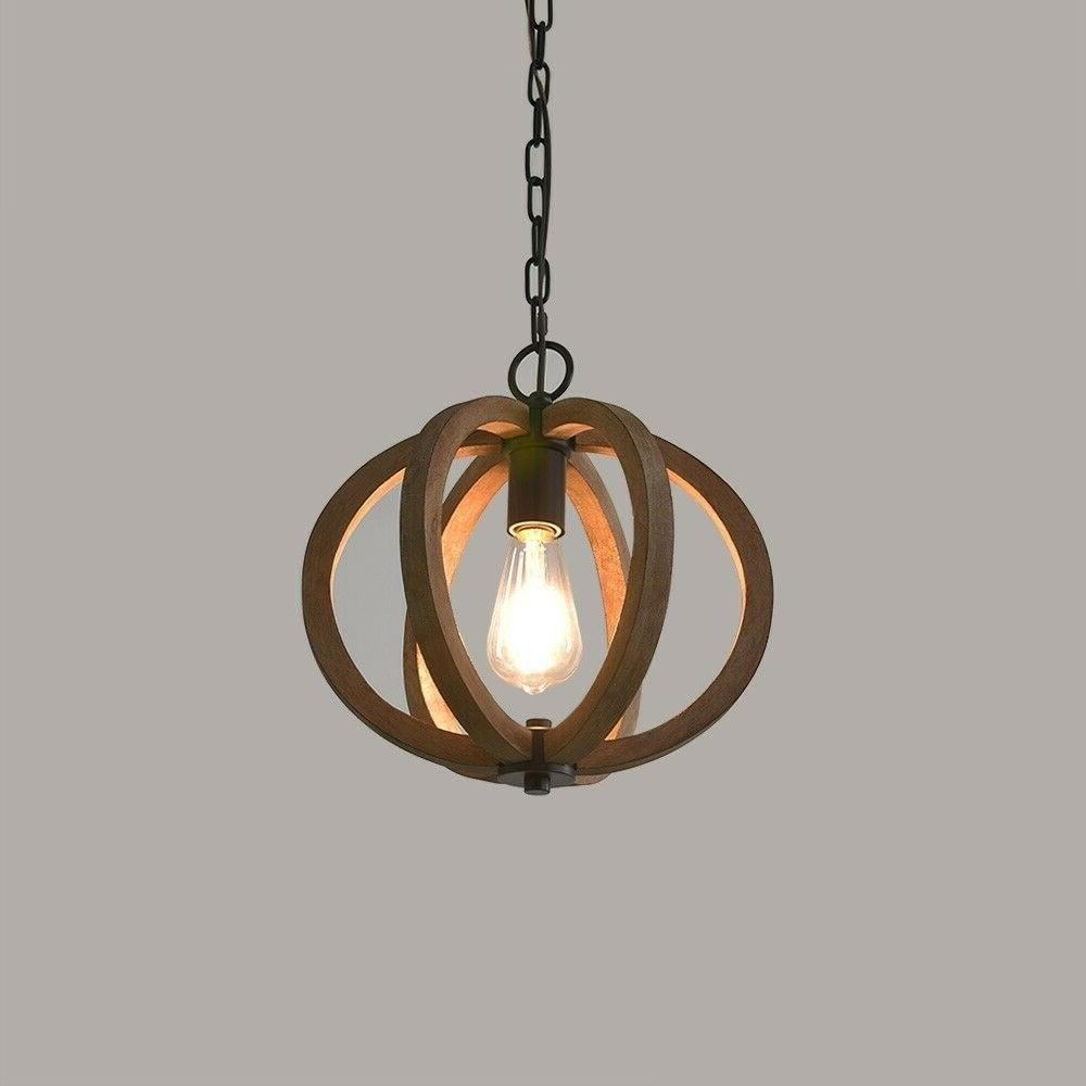 Farmhouse Cage Brown Fixture