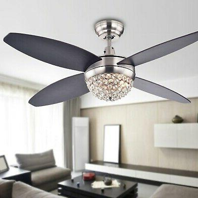 Harvin 2-light Wood Satin Nickel Fan Brown