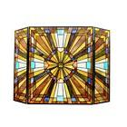 LAST ONE THIS PRICE Mission Arts & Crafts Stained Glass Fire