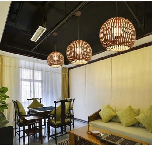 led bamboo lights dining chandelier ceiling lamp