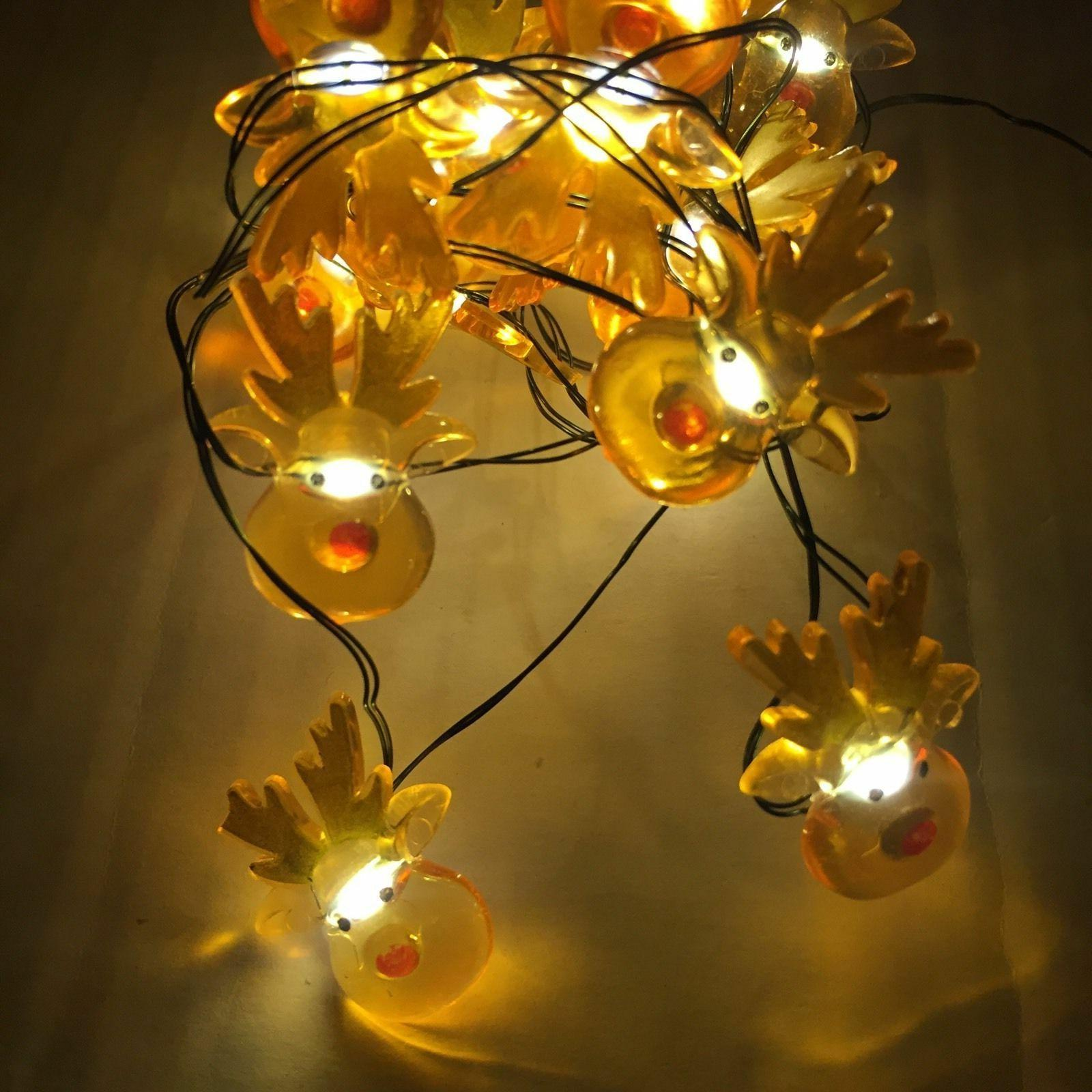 LED Brown String Lights Powered Timer Feet