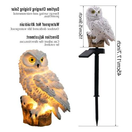 LED Night Lights Owl Shape Solar-Powered