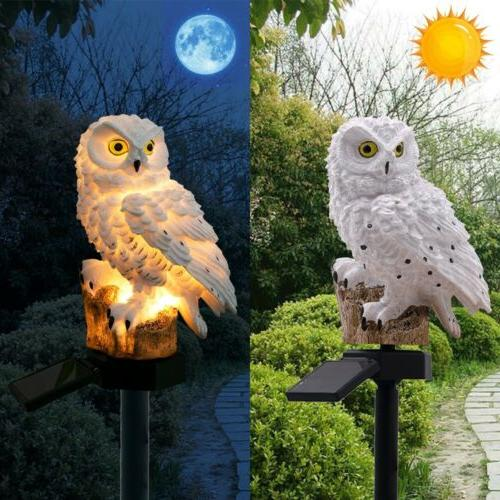 LED Garden Solar Night Lights Owl Solar-Powered Lamp US