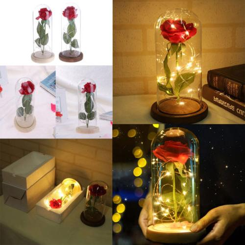 led night light rose flower fariy lights