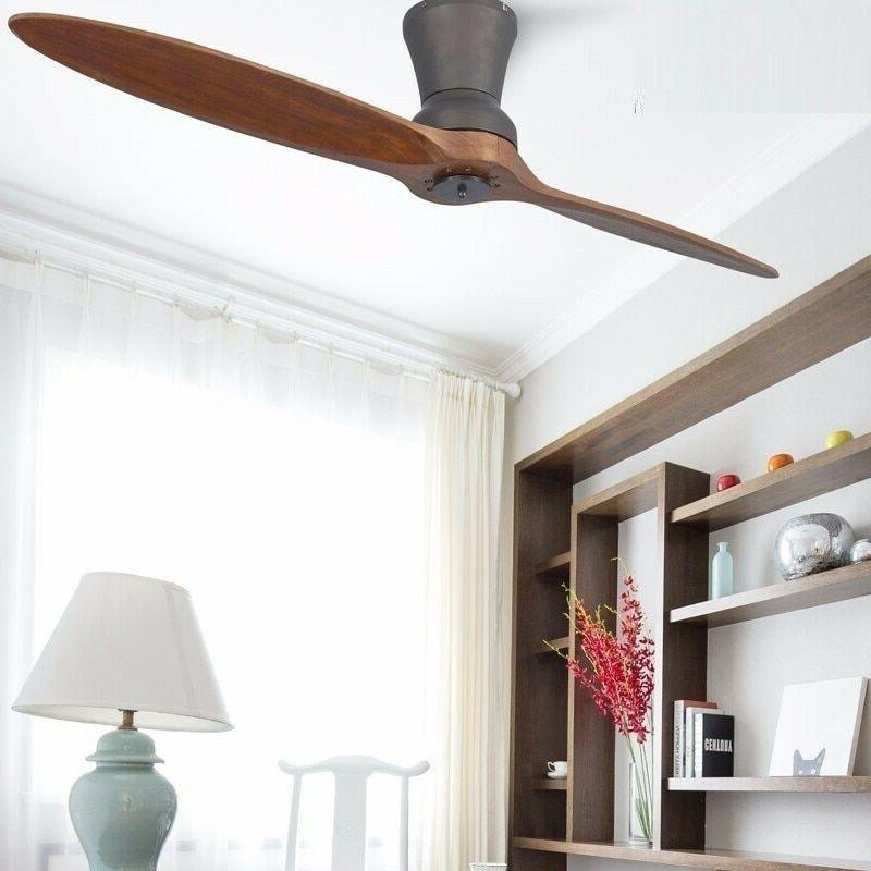 LED Wooden With Light Decorative Fan Lamp