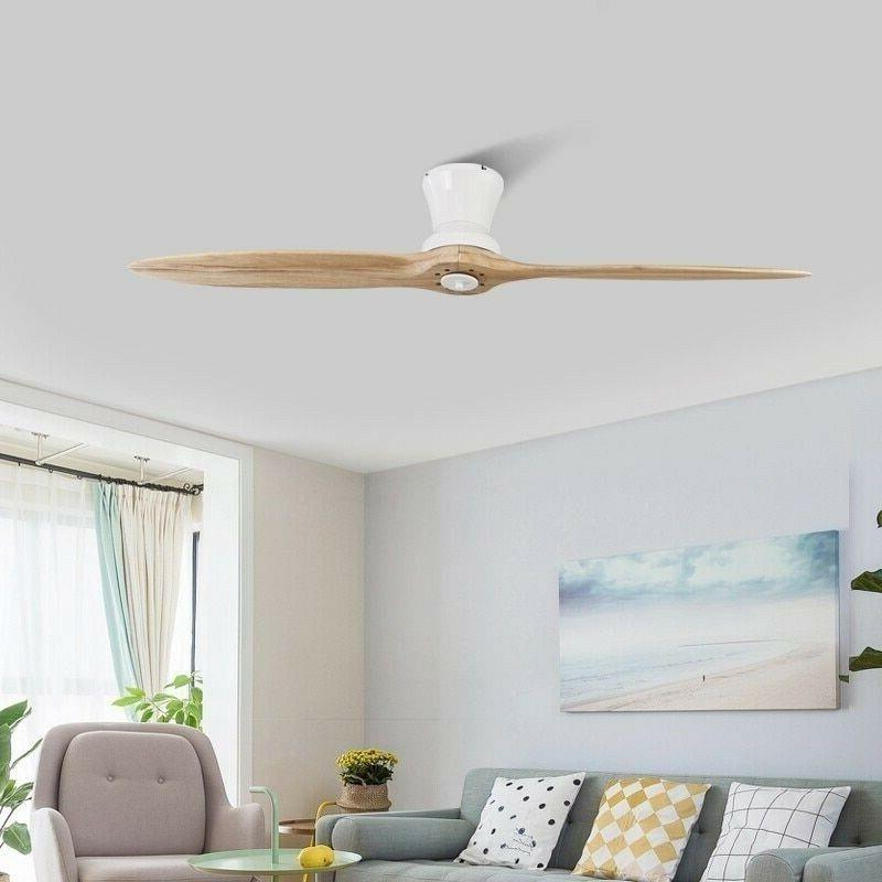 LED Wooden Ceiling With Light Fan Lamp