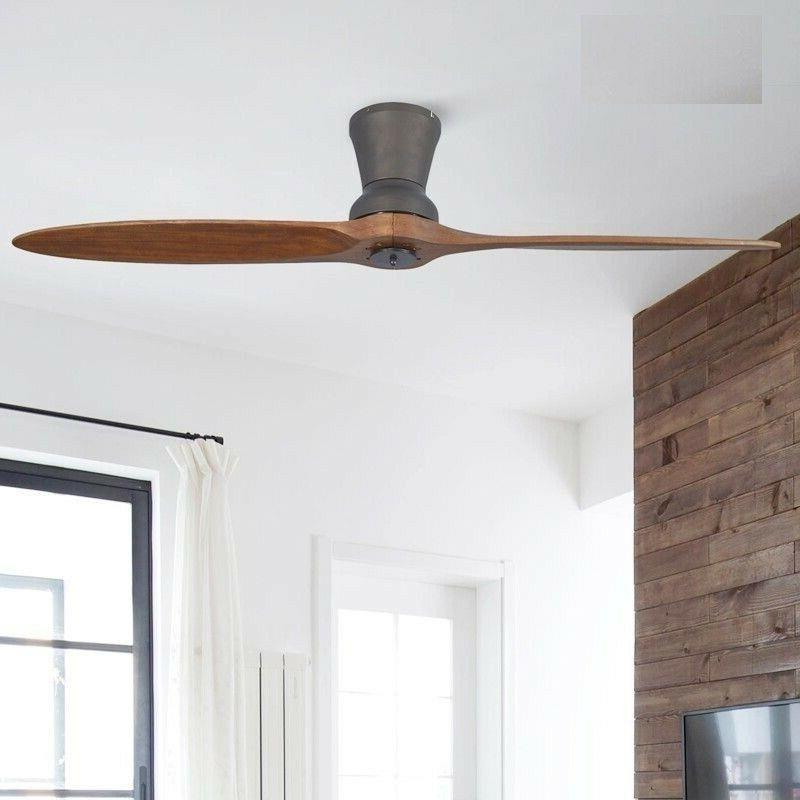 led wooden ceiling fan with lights modern