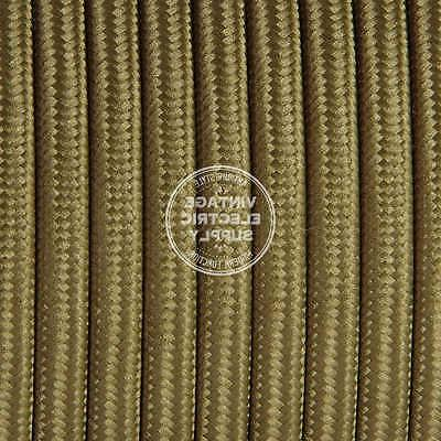 light brown parallel flat cloth covered wire