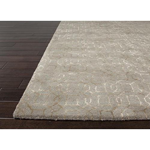 5' x Brown Rembrandt Tufted Wool Area Throw Rug Rug
