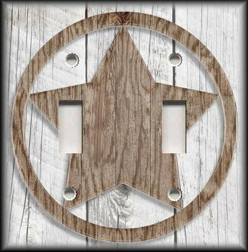 light switch plate cover rustic farmhouse decor