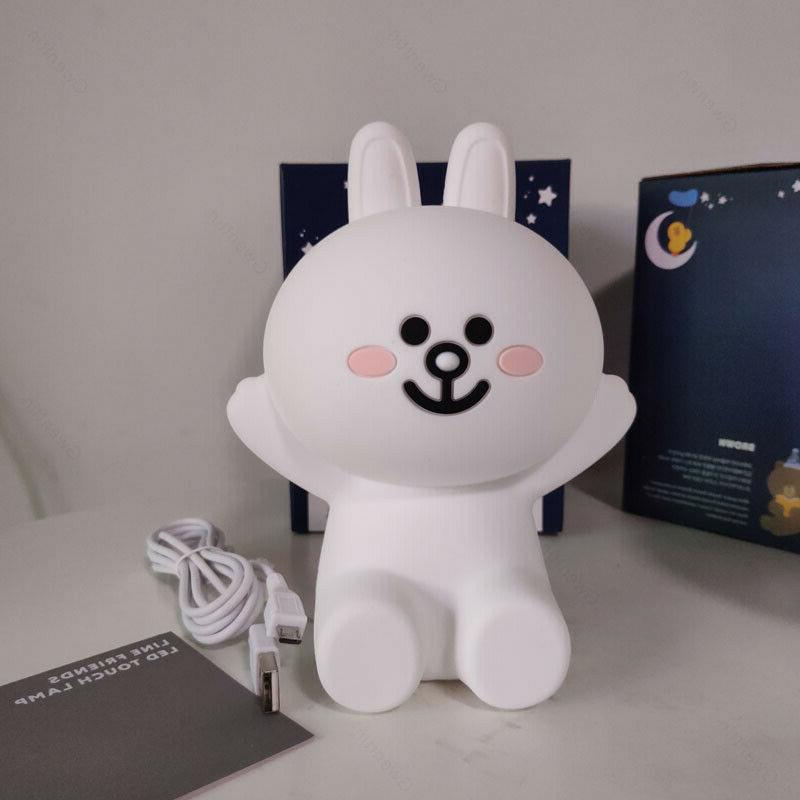 Line Friends Touch Lights Brown Cony Rabbit Lamp Kids