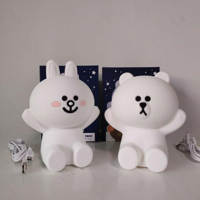 Line Friends Lights Bear Rabbit Lamp Kids Baby