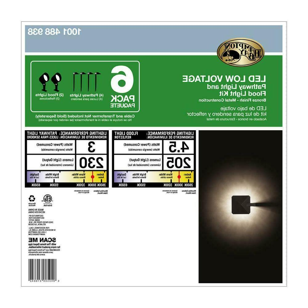 Low-Voltage Kit with Flood Lights 4 Path 6-Pack