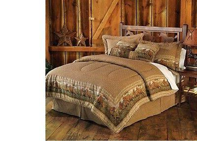 Luxury 7 Pieces Light Brown Jacquard Wild Horse Comforter Se
