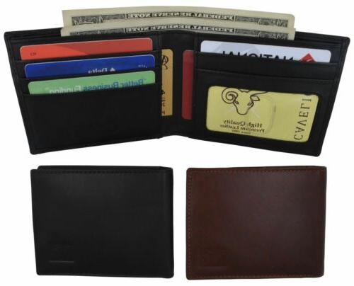 mens genuine leather id card holder classic