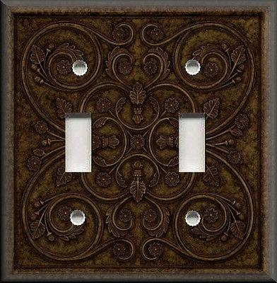 metal light switch plate cover french pattern