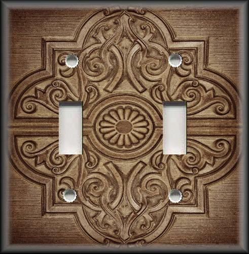 metal light switch plate cover rustic medallion