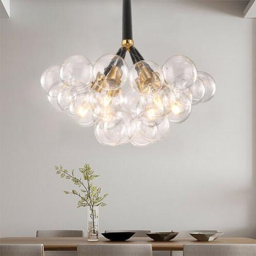 Modern Globes Bubble Glass 6 Pendant Light Fixtures
