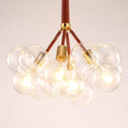 Glass Chandelier 6 Pendant Light Fixtures