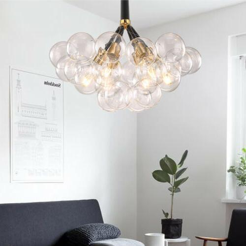 Modern Glass 6 Pendant Light