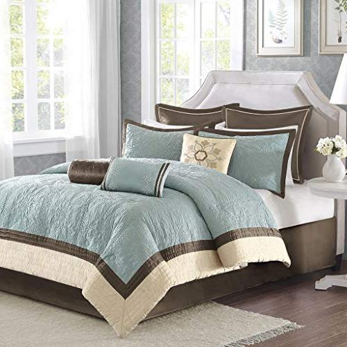 Madison Park King Size Set Bed in - Quilted – 9 Bedding Sets Faux Bedroom