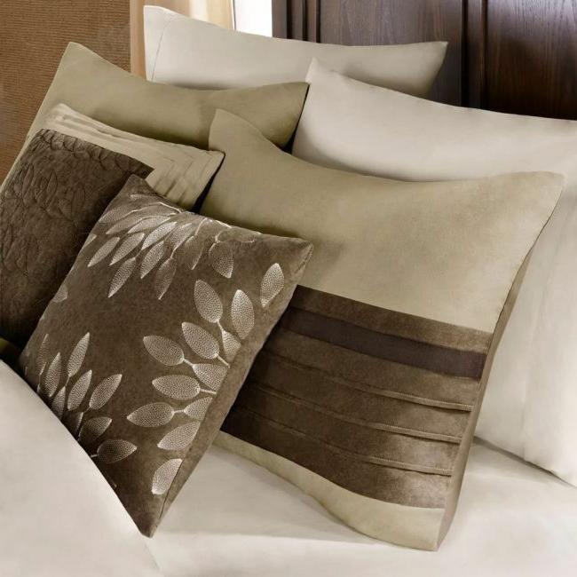 Neutral Comforter Floral Striped Full