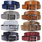 New Mens 35 mm Wide Reptile Skin Real Leather Pin Belts S-3X