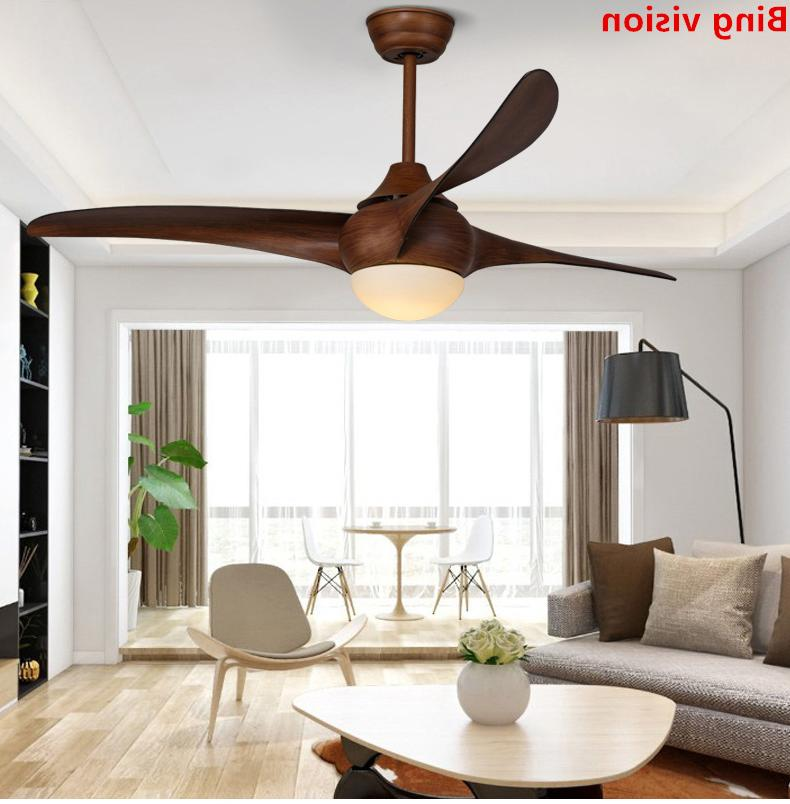 Nordic Vintage <font><b>Fan</b></font> With Remote Dimming Techo LED Bedroom