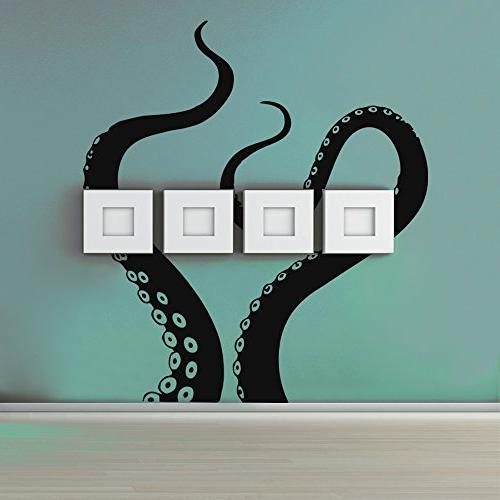 BATTOO Octopus Wall Sea Monster Kraken Shower Sticker Decal