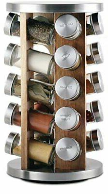 Orii GSR3519-L Rotating Spice Rack, 8.5 x 8.5 x 14, Light Li