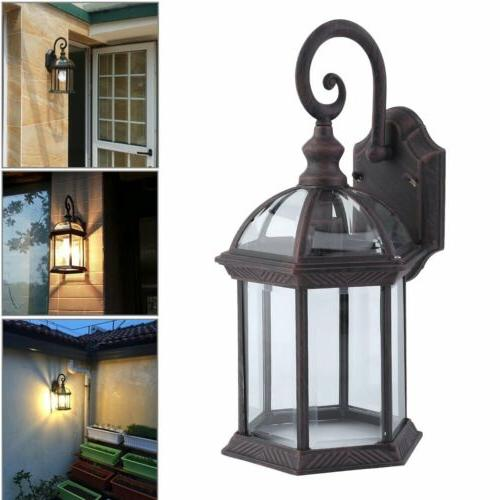 Outdoor Fixture Wall Lighting Sconce bronze Porch Patio Latern