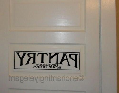 Pantry Vinyl Decal Wall Sticker Words Lettering Quote Kitche