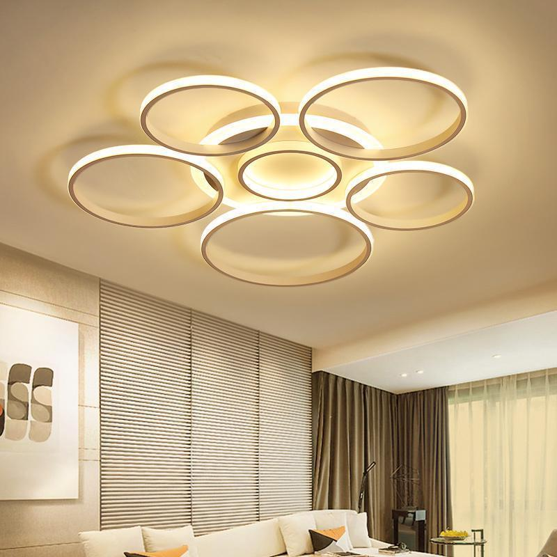 Pendant Lamp Modern Ceiling Circle Fixtures Home Decorations