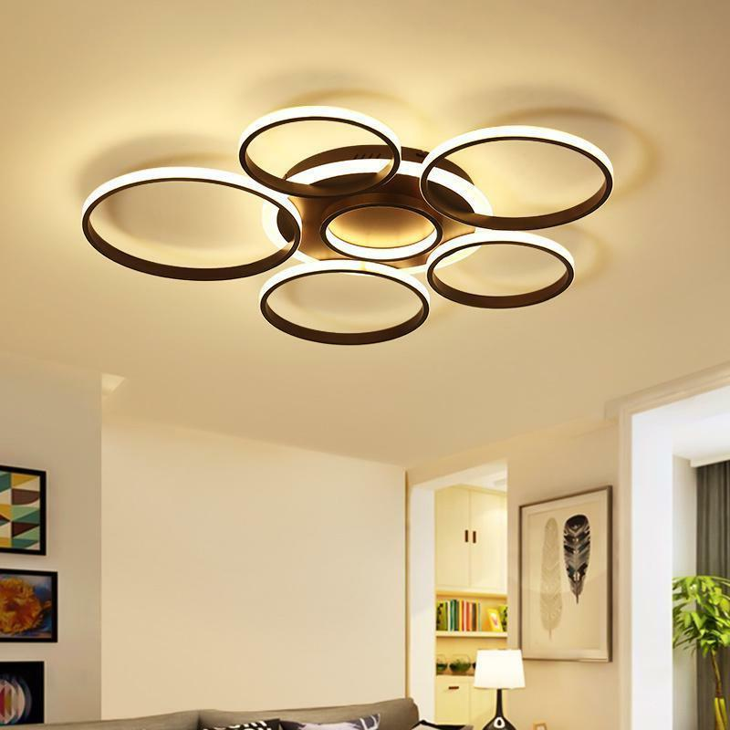 pendant lamp modern led ceiling lights circle