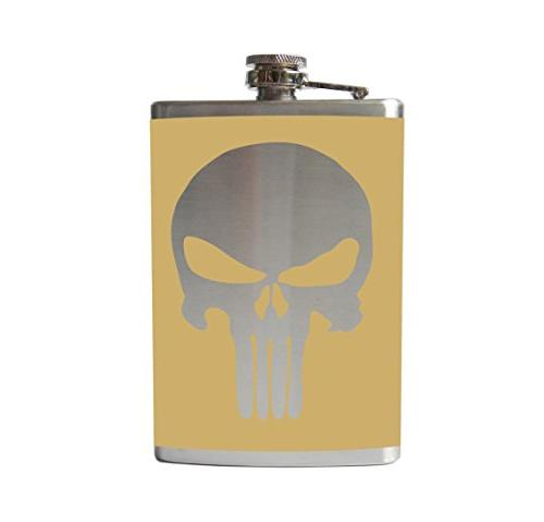 punisher flask comic book vinyl wrapped 8