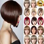 Real Thick Short BOB Straight Synthetic Hair Two Tone Hair F
