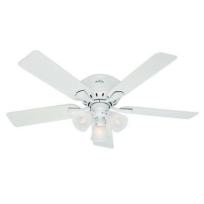Hunter Reinert Low Profile With 3 Lights 52 Inch  Ceiling Fa