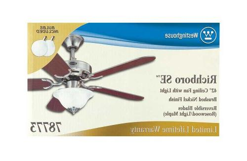 Westinghouse Ceiling Fan and Light, Brushed